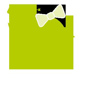 gruenes Kueken mit Schleife und Drachen