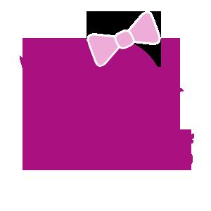 lila Kueken mit Schleife und Ente