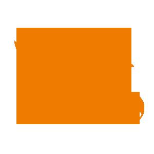 orangenes Kueken mit Ball